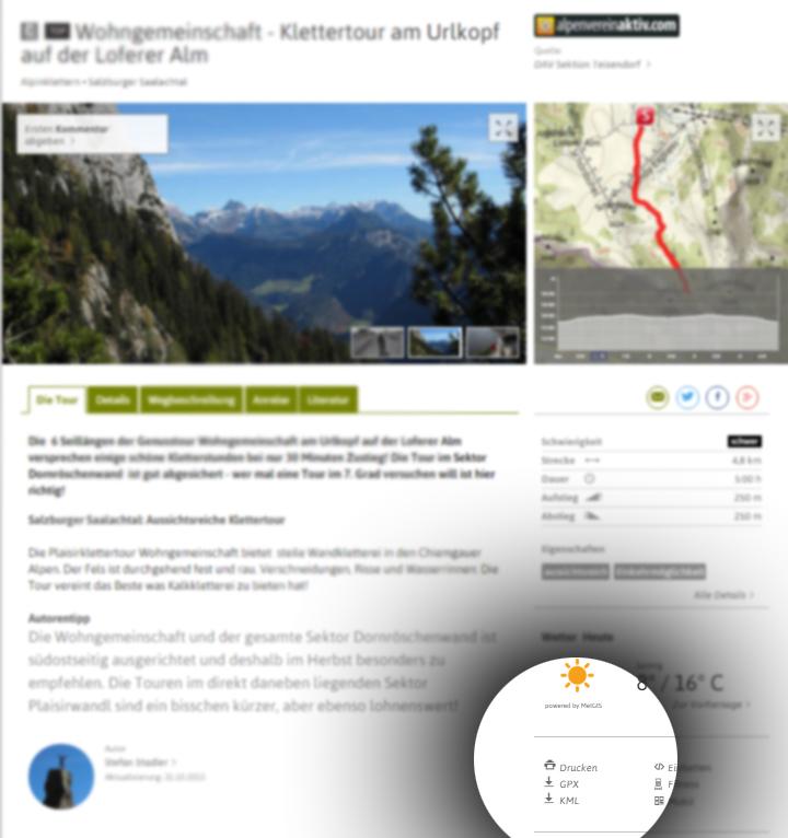 Outdooractive Blog • Online Wanderkarte drucken im Maßstab 1:25.000
