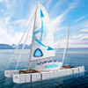 Plastikflaschenboot