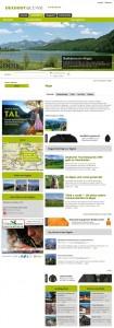 Allgäu-Seite mit neuen Links zu den regionalen Aktivitäten