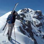 Winterliche Extremtour: mit Skiern quer über die Alpen
