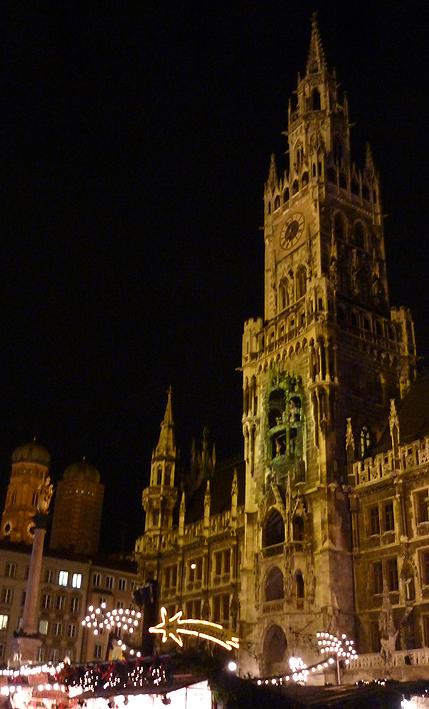 Christkindlmarkt am Münchener Rathaus. Foto: Viktoria Schmid