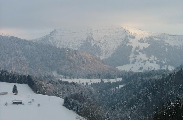 Der Hochgrat, Hausberg von Oberstaufen und höchster Berg der Nagefluhkette.