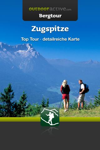 Startscreen der Zugspitze-App