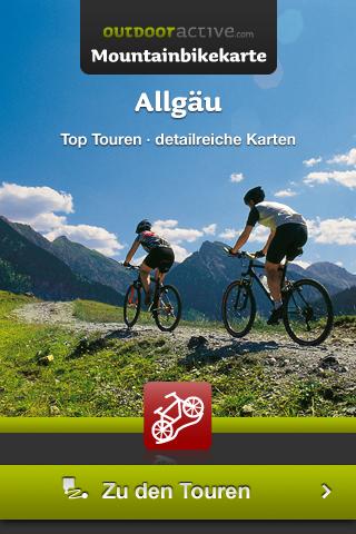 outdooractive.com-Mountainbikekarte Allgäu