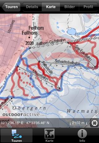Hochauflösende Winter-Karte