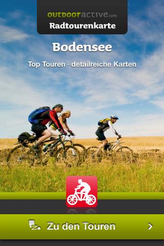 Startscreen Bodensee-Radtourenkarte