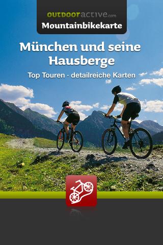 Startscreen Mountainbikekarte München und seine Hausberge