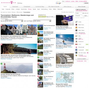 Der outdooractive.com-Tourenplaner auf www.t-online.de