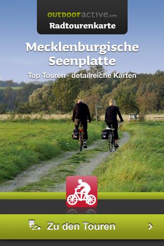Startscreen der Mecklenburgische Seenplatte App.