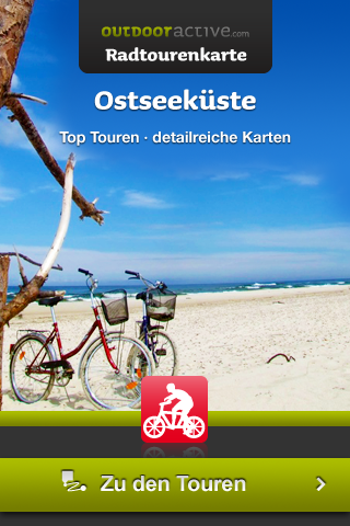 Startscrren Ostseeküste-Radtourenkarte