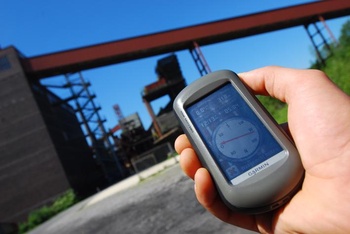 Per Geocaching über die Zeche Zollverein. Foto: Sportfaktor GmbH