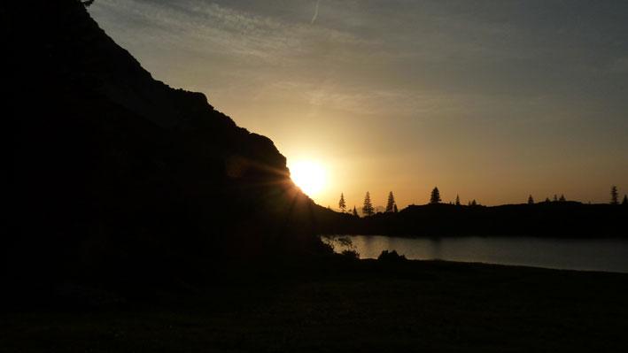 Sonnenuntergang am Gaisalpsee. Foto: Patrick Küpper