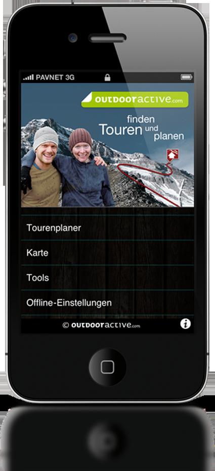 Die outdooractive.com- App. © ALPSTEIN