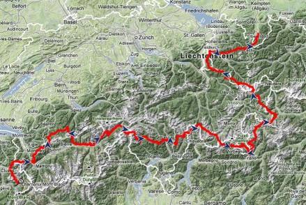 von Chamonix nach Oberstdorf