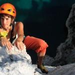 Beim Klettern in der Calanque