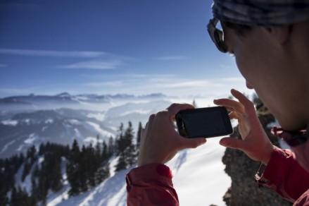 Der integrierte Gipfelfinder der outdooractive.com App sorgt immer wieder für Begeisterung - und für neues Wissen. (c) ulligunde.com