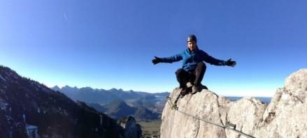 Auf dem Klettersteig