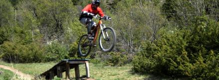 Stefan beim Biken
