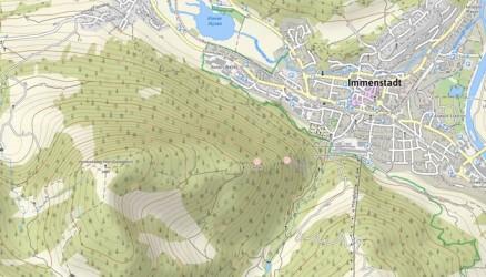 GoogleStreetMap mit Höhenlinien
