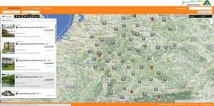 Alle Jugendherbergen Deutschlands übersichtlich auf einer Karte dargestellt.