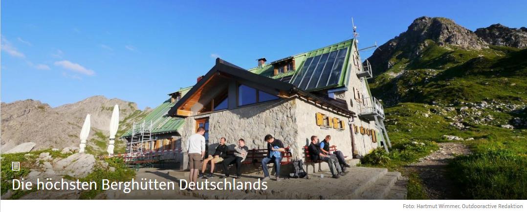 Die höchsten Berghütten Deutschlands • Liste