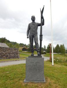 """Sondre Norheim: Norwegischer Nationalheld und """"Far til de moderne Skiidrott"""" (Vater des modernen Skifahrens)."""
