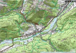 topografische Karte Österreich