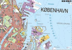 topografische Karte Dänemark