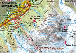 topografische Karte Frankreich