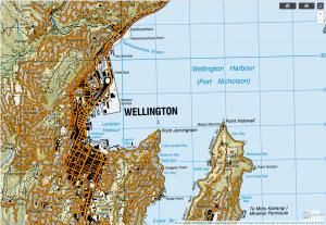 topografische Karte Neuseeland