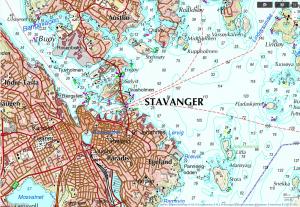 topografische Karte Norwegen