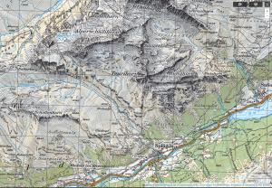 topografische Karte Schweiz