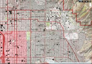 topografische Karte Utah