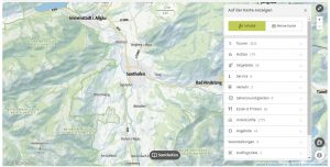Web App Karte Outdooractive