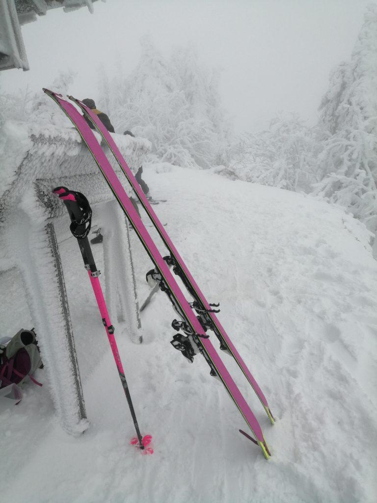 Skier ausgerüstet mit Skifellen von POMOCA