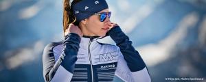 Sportlerin in einem Outfit von Martini Sportswear