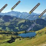Neu: Entdecke Berggipfel, Seen und Orte mit Skyline