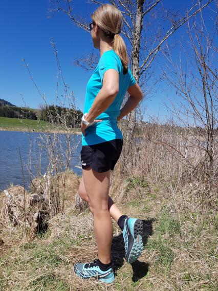 Trailrunning-Schuh Scarpa Ribelle Run in der Farbe aqua sky/black