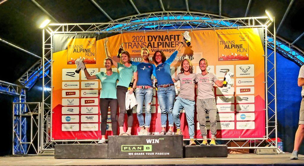Siegerehrung Transalpine Run 2021